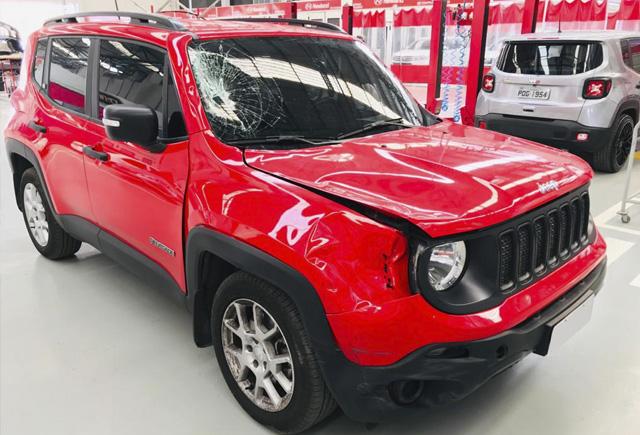 Funilaria Newsedan Jeep - Antes